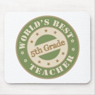 Worlds Best Fifth Grade Teacher Mouse Pad