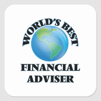 World's Best Financial Adviser Square Sticker