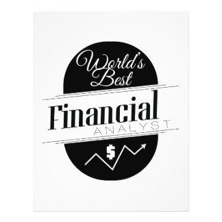 World's Best Financial Analyst Flyer