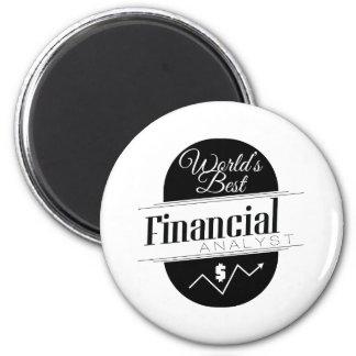 World's Best Financial Analyst Refrigerator Magnet