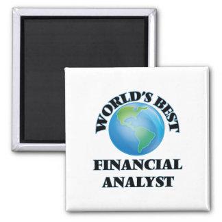 World's Best Financial Analyst Refrigerator Magnets