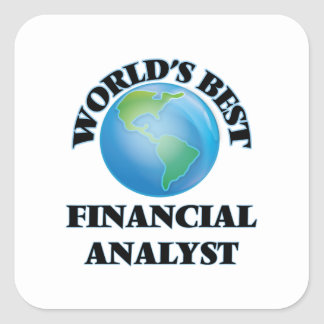 World's Best Financial Analyst Square Stickers