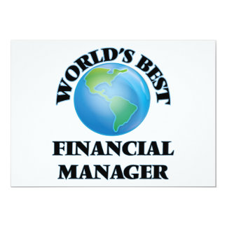 World's Best Financial Manager Custom Invitation