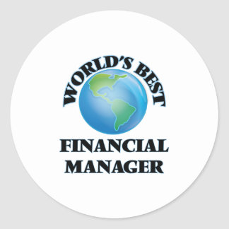 World's Best Financial Manager Round Stickers