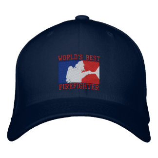 World's Best Firefighter Custom Embroidery Embroidered Hat