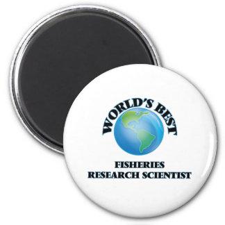 World's Best Fisheries Research Scientist Refrigerator Magnet