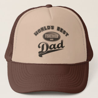 World's Best Fisherman & Dad Trucker Hat