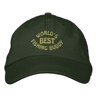 Worlds Best Fishing Buddy Embroidered Baseball Cap