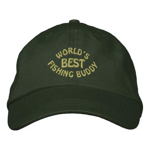 Worlds Best Fishing Buddy Embroidered Baseball Cap