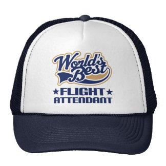 Worlds Best Flight Attendant Cap