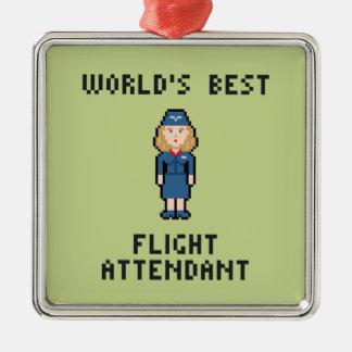 World's Best Flight Attendant Christmas Ornament
