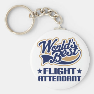 Worlds Best Flight Attendant Key Chain