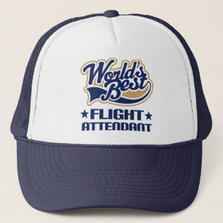 Worlds Best Flight Attendant Trucker Hat
