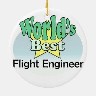 World's best Flight Engineer Round Ceramic Decoration