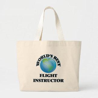 World's Best Flight Instructor Tote Bag