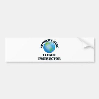 World's Best Flight Instructor Bumper Sticker