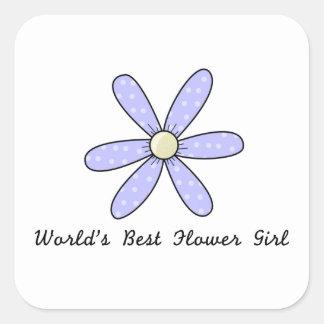 World's Best Flower Girl Square Sticker