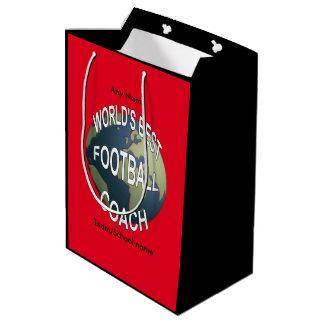 World's Best Football Coach Medium Gift Bag