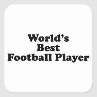 World's Best Football Player Square Stickers