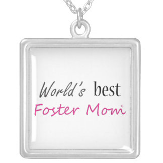World's Best Foster Mom Silver Plated Necklace