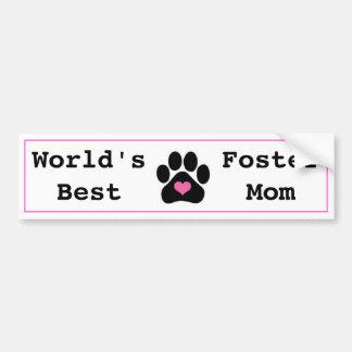World's Best Foster Mum Bumper Sticker