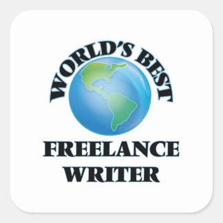 World's Best Freelance Writer Square Sticker