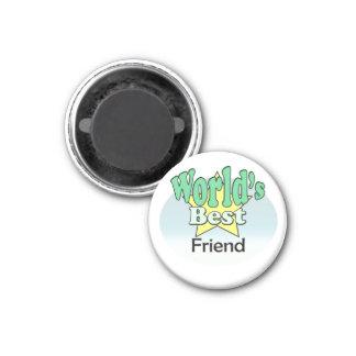 World's best friend 3 cm round magnet