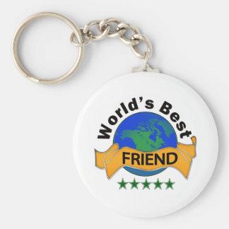 World's Best Friend Basic Round Button Key Ring