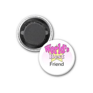 World's best friend (female) 3 cm round magnet