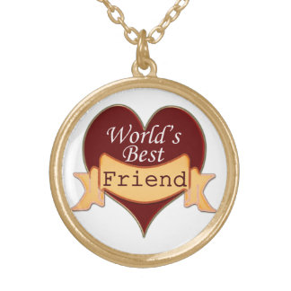 World's Best Friend Gold Plated Necklace