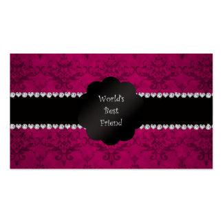 World's best friend pink damask business card templates