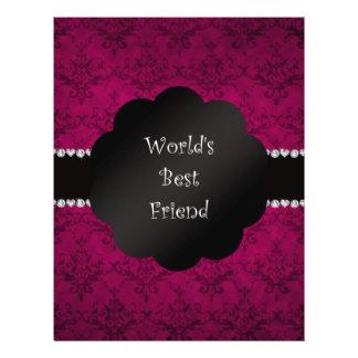 World's best friend pink damask full color flyer