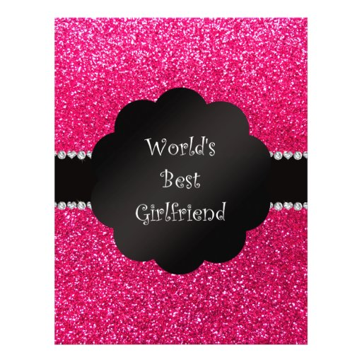 World's best friend pink glitter personalized flyer