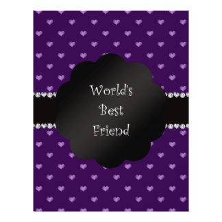World's best friend purple hearts custom flyer