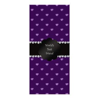 World's best friend purple hearts rack card