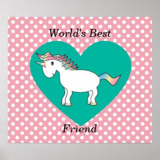 World's Best friend unicorn Poster