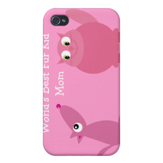 World's Best Fur Kid Mom iPhone 4 Cover