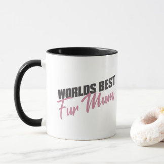 worlds best fur mum mug