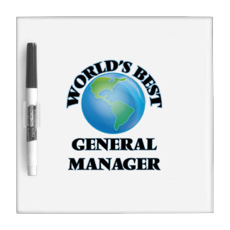 World's Best General Manager Dry Erase Whiteboards