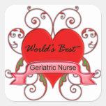 World's Best Geriatric Nurse Square Stickers