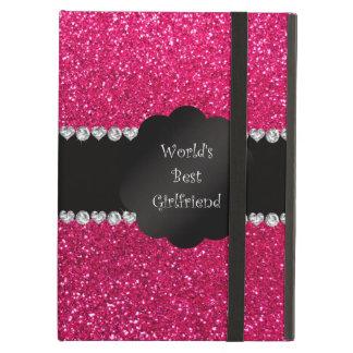 World's best girlfriend pink glitter iPad air cover