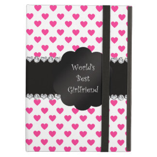 World's best girlfriend pink hearts case for iPad air