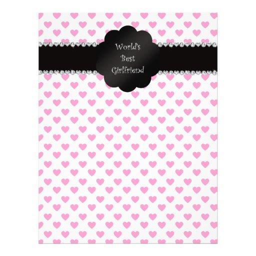 World's best girlfriend pink hearts personalized flyer