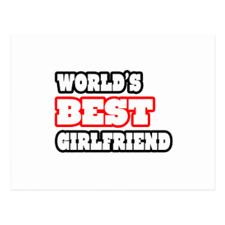 World's Best Girlfriend Postcard
