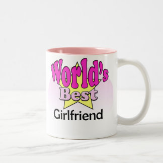 World's best Girlfriend Two-Tone Mug