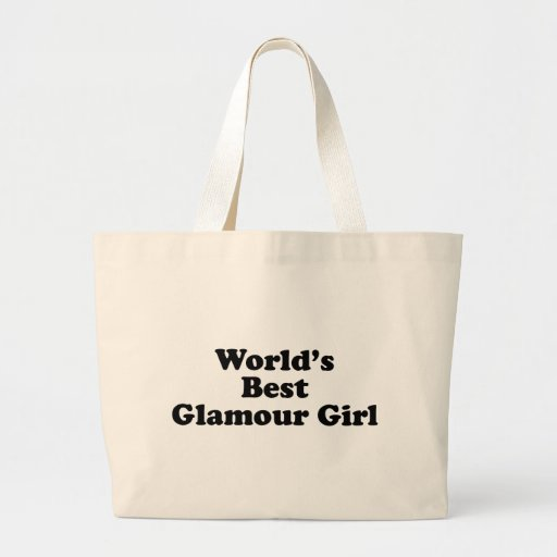 World's Best Glamour Girl Canvas Bags