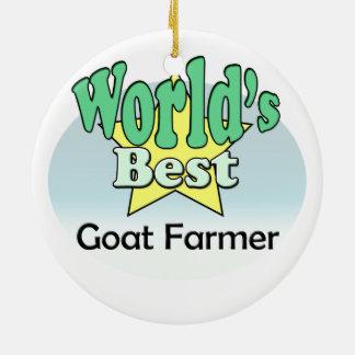 World's best Goat Farmer Christmas Ornament