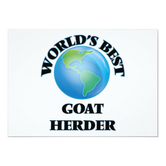 World's Best Goat Herder Invitation