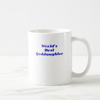 Worlds Best Goddaughter Basic White Mug