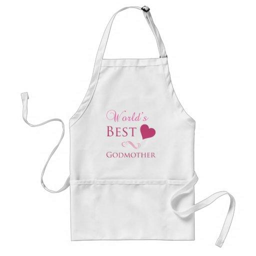 World's Best Godmother (Heart) Aprons